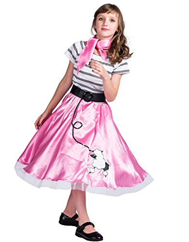 's Pink Poodle Dress Costume(Pink, Medium) ()