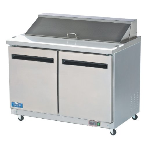 Arctic Air AST48R Two Door Sandwich Prep Table - Prep Table Cooler