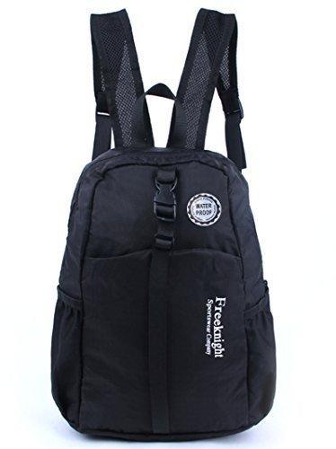 Freeknight Durable Packable Handy Lightweight Travel Waterproof Backpack, 20L-black
