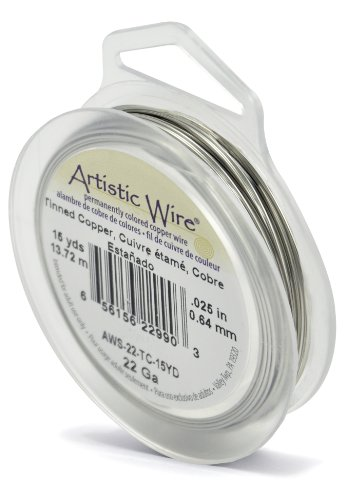- Artistic Wire 22-Gauge Tinned Copper Wire, 15-Yards