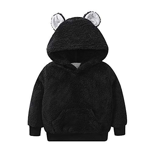 TOOPOOT Kids Baby Jacket,Toddler Baby GirlsBoys Long Sleeve Solid Hoodie Tops Fluffy Outfits Clothes