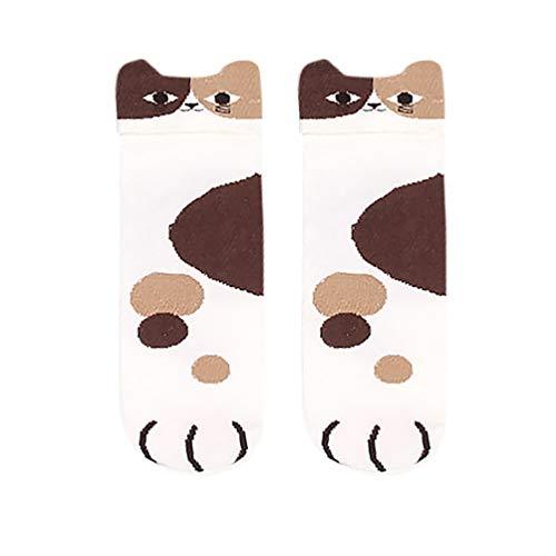 Tronet Slipper Socks/Popular Short Socks Women's Cute Kitty Cat Paws Socks with Paw Prints On Toes]()