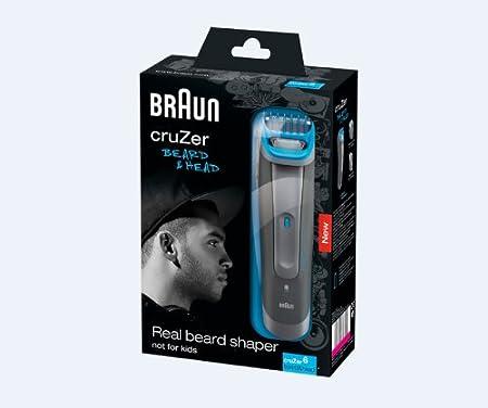 Braun Cruzer 6 - Afeitadora, resistente al agua, recargable, con accesorios + gel Gillette, color gris y azul: Amazon.es: Salud y cuidado personal