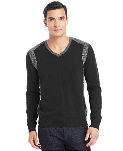 UPC 887692109712, Kenneth Cole Men's Cotton Black V-Neck Sweater, Large