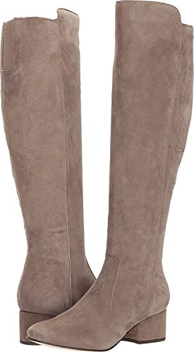 Marc Fisher Womens Tawanna Almond Toe Knee High Fashion, Taupe Suede, Size 6.0