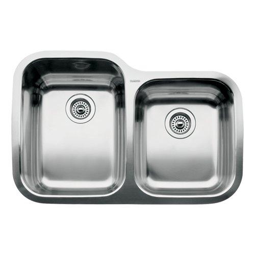 (Blanco 510-887 Supreme 1 3/4 Bowl Undermount Sink, Satin Polished Finish)