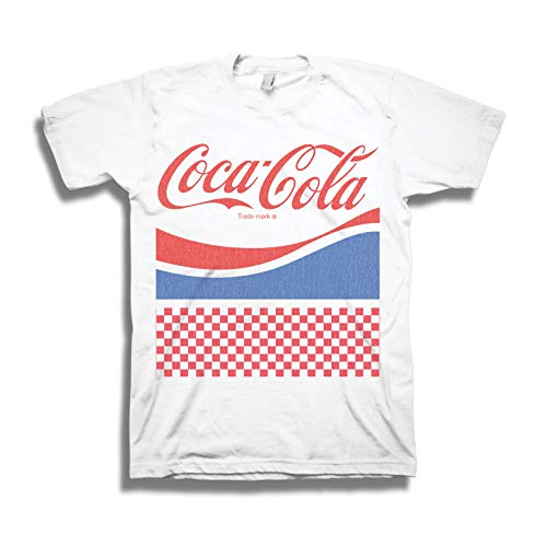 Mens Red Coca Cola Shirt - Have a Coke and a Smile Tee - Coke Soda Classic T-Shirt (White, Small) -