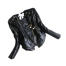WEONEDREAM Girls Spring Autumn PU Leather Jackets Children Slim Outerwear