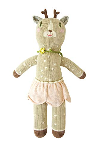 (Blabla Hazel The Deer Plush Doll - Knit Stuffed Animal for Kids. Cute, Cuddly & Soft Cotton Toy. Perfect, Forever Cherished. Eco-Friendly. Certified Safe & Non-Toxic.)