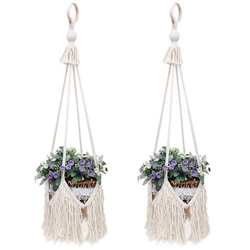 Crystal Wall Bracket - UL Macrame Hanging Shelf 100% Cotton Rope Handmade Extra Large 12