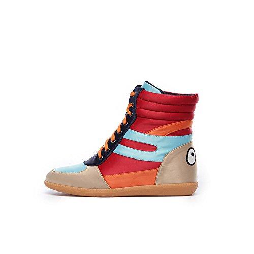 e sport top alta casual scarpe in e di in alti scarpe inverno Casual misti scarpe stivali stivali red autunno colori piatte Donna qfwvzX