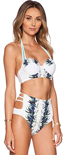 FQHOME Womens Halterneck Push Up High Waist Bikini Swimsuit Size M