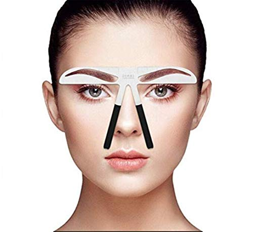 SKYWXHN- 1Pc Eyebrow Shaping StencilS Eye Brow Guide Template Kit Makeup DIY Tool