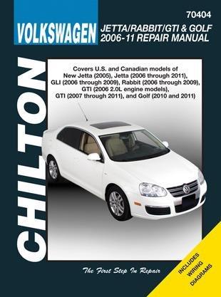 Volkswagen Jetta, Rabbit, GTI & Golf Chilton Repair Manual (2006-2011)