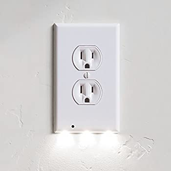 6 Pack Outlet Wall Plate With LED Night Lights - No Batteries Or ...