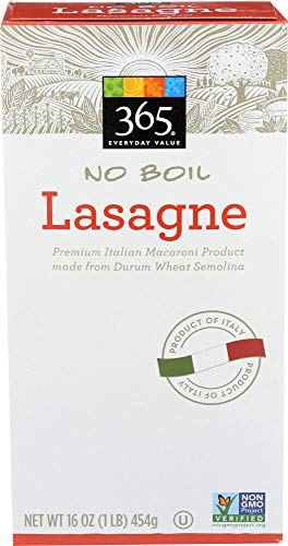 365 Everyday Value, No Boil Lasagne, 16 Ounce