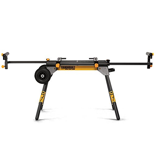 """ToughBuilt - Universal 77"""" Miter Saw Stand/Support Stand - Universal Miter Saw Stand, Universally Compatible, 2 Work Supports Extend to 77"""", Quick Release Leg Locks (TB-S510) NEW"""