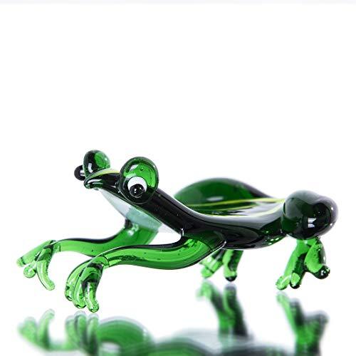crystalsuncatcher Handmade Frog Art Glass Blown Reptiles Animal Figurine