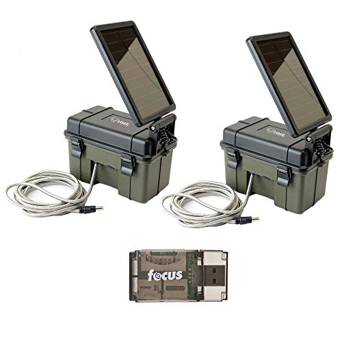 Stealth Cam HME-12VBBSLR Trail Cam Solar Auxiliary Power Packs, 2-Pack: Works with Most Stealth Cam Game Cameras