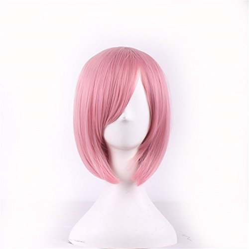 MOCOO High Quality Short Spiky Heat Resistant Hair Wigs Fashion Men's Cosplay /Party Costume Wigs (Pink) (Short Pink Wig)