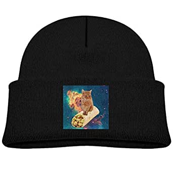 Amazon.com: Kids Knitted Beanies Hat Cat in Space Winter