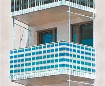 Sichtschutz Fur Balkon Und Gartenzaun Blau Weiss Niedrig Amazon De