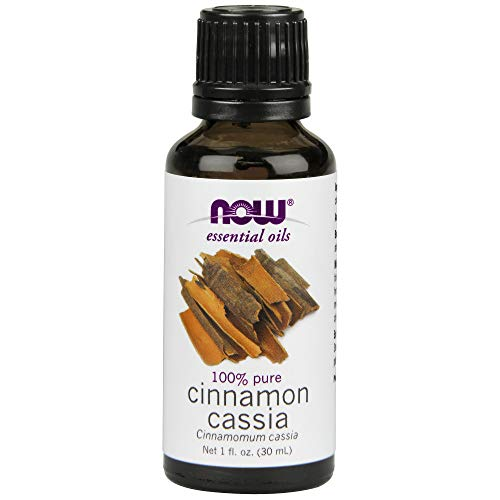 (Now Essential Oils, Cinnamon Cassia Oil, Warming Aromatherapy Scent, Steam Distilled, 100% Pure, Vegan, 1-Ounce)