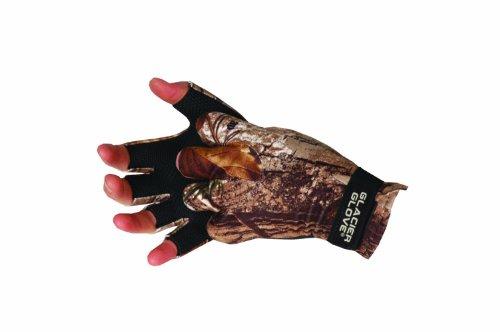 Glacier Glove Premium Fleece Fingerless Hunting Glove, Realtree , ()