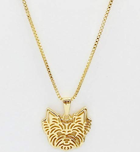 Terrier Jewelry - ANAi's Jewelry Box Yorkshire Terrier Pendant and Necklace for Yorkie Dog Lovers Gold Color 17