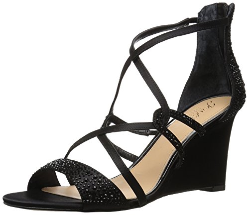 Badgley Mischka Jewel Women's Ally II Wedge Sandal, Black, 6