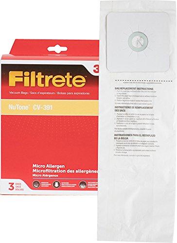 - 3M Filtrete NuTone CV-391 Micro Allergen Vacuum Bag