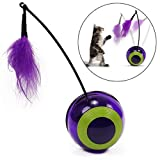 Pet Interactive Electric 360° Rotate Training cat Toy Rotating Butterfly Cat Toys Indoor Play Toy Rotation Tumbler
