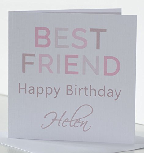 Best Friend Birthday Card Simple Stylish Personalised For A Special Or Friendship Greeting Age