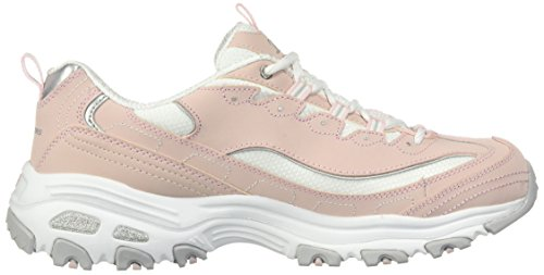 De Deporte Para Claro Skechers 11422 blanco Rosa Bkw Zapatillas Mujer wqtxIT
