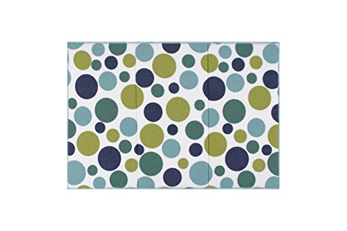 Ritz Polka Dot Reversible Absorbent Microfiber Dish Drying Mat, 21-inch by 14-inch, Ocean Blue (Blue Dishes Green)