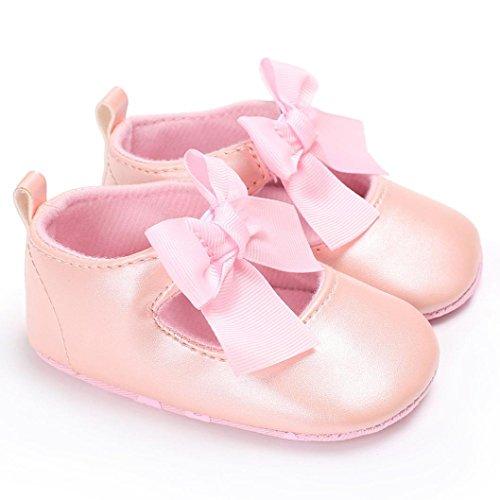 Hunpta Baby Bowknot Prinzessin Soft Sohle Schuhe Kleinkind Turnschuhe Freizeitschuhe Rosa