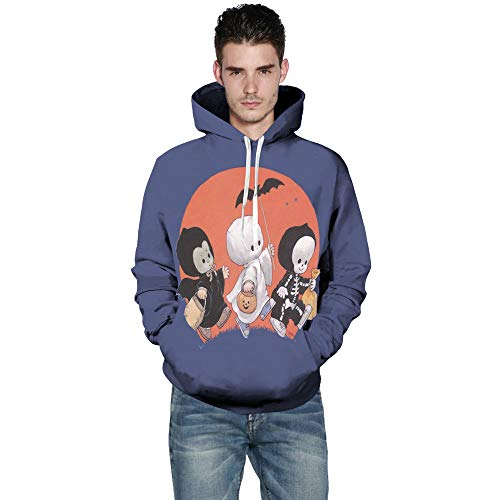 Sweatshirt for Women Hoodies, BXzhiri Mens Casual Scary Halloween Lover 3D Print Party Long Sleeve Hoodie Top Blouse (6 Plus Burberry)