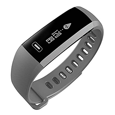 Smart Watch, Fitness Tracker, READ R5.PRO Heart Rate Monitor Blood Pressure Bracelet Pedometer Activity Tracker Sleep Monitoring Call SMS SNS Remind Watch for Android iOS