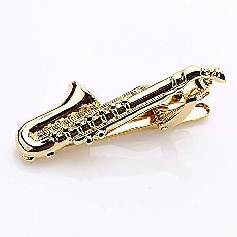 THNSIOE Barra de Corbata de saxofón Musical de Color Plateado ...