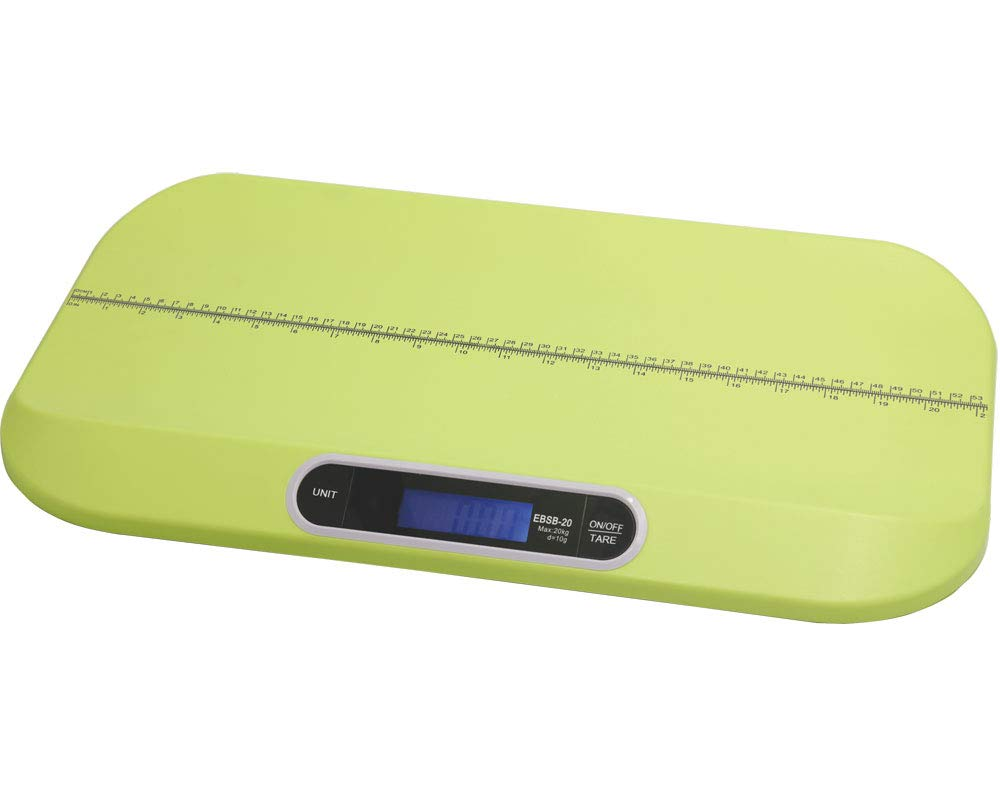 CGOLDENWALL Smart Baby Scale Digital Weighing Weight and Height Scale Multi-Function Pet Scale Infant Scale/Weight (Max: 20kg) and Height (Max: 535mm) Track/Precision 10g (Green) by CGOLDENWALL