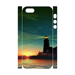 DIYCASESTORE Wholesale Diy Case for iPhone 5,5S 3D Bumper Plastic,Customized case Lighthouse WE169444