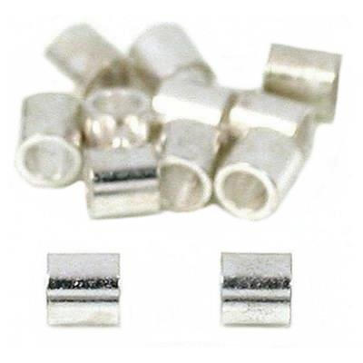12 Beading Stringing Parts Silver Plated Crimp Beads
