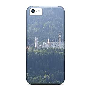 New Premium Flip Case Cover The Fairy Tale Castle Neuschwanstein Skin Case For Iphone 5c