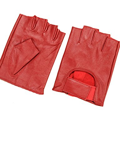 Half Finger Leather Gloves - 8