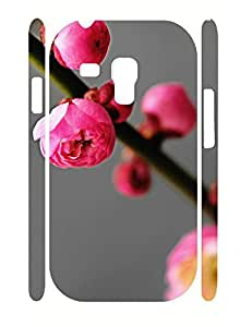 Kawaii Custom Floral Print Anti Drop Phone Cover Case for Samsung Galaxy S3 Mini I8200
