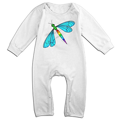 Price comparison product image Mrei-leo Baby Girl Bodysuits Rainbow Dragonfly Kid Pajamas