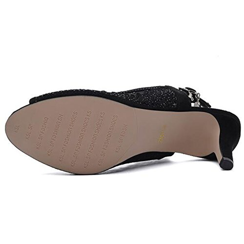 Soles Mujeres 5 Zapatos Ligeros cn37 Tamaño De color Para Eu37 Hebilla Baja Primavera Mujer B Haizhen Talones B uk4 Verano Casual 4 Pu qYAOYp