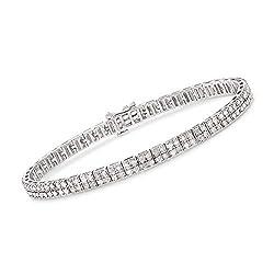 Diamond 2-Row Bracelet in Sterling Silver