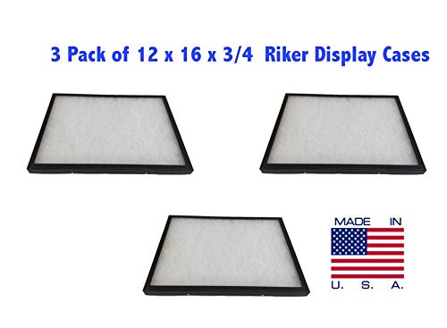 Southern Star 3 Pack of Riker Display Cases 12 x 16 x 3/4 for Collectibles Jewelry & More