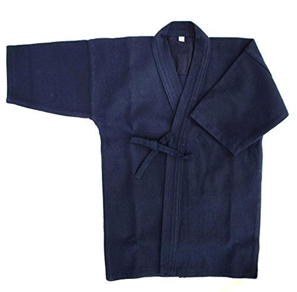 振りかける有望秀でる剣道着 色止め紺一重剣道衣 (サイズ120~180cm) 綿100%